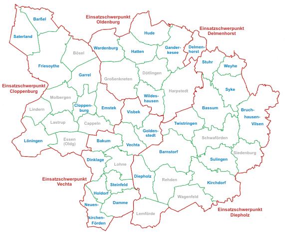 DLRG Gliederungen im Bezirk Oldenburger Land - Diepholz